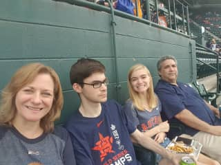Attending Astros games is a favorite family activity.