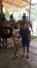 Steven ; Serena in Thailand at the Thai Elephant Conservation Center