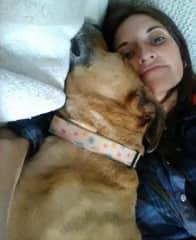 Pup snuggles in Denver!