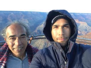My dad and I at the Grand Canyon