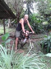 Ebbo on the mountainbike.