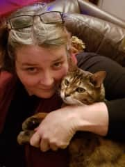 Kitty cuddles...17 years together and sorely missed