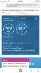 Average December temperatures