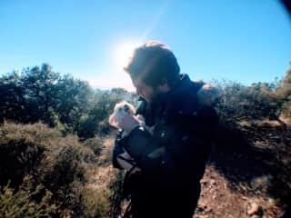 Conrad and Benjamin on a hike