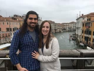 Chris and Ellen in Venice