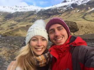 Claire and Arthur in Iceland