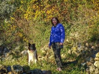 Maura with Bryn, Callas, France
