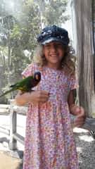 Maiya loves all animals. :-)