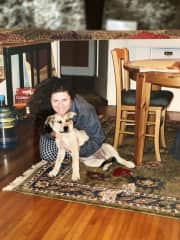 Me with Phinney when she was a puppy