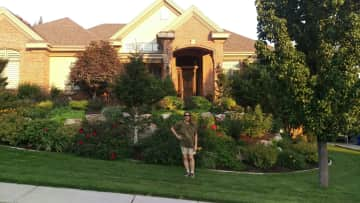My flower garden and house