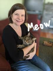 Kathy & Brett both love cats. We enjoy playing with cats & giving them lots of attention! Cuddles are the best!
