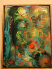 I do acrylic painting.  This is one of my abstracts.