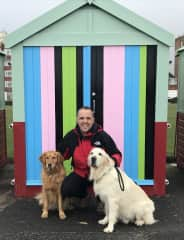 James with our first house -sit kids in Brighton