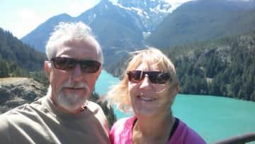 Enjoying the vistas in Rocky Mountain National Park.