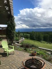 Partial view from back deck