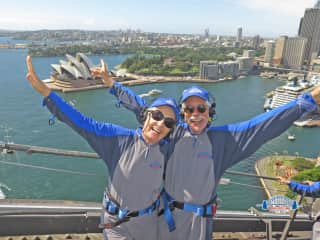 Tilman and Claudia on Sydney Harbour Bridge