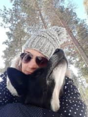 Hug in the snow - Lapland