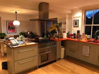 Kitchen (somewhat messy!)