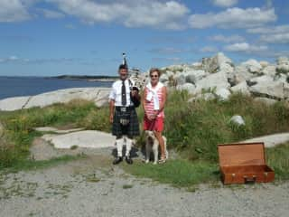 Bagpiper at Peggy's Cove NS