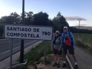 The Camino de Santiago a 790 kilometer walk along an ancient pilgrimage route in Northern Spain.