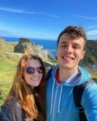 Emelie and Tom in Tintagel, Cornwall