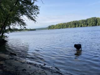 At the Connecticut River, just 5 minutes from the house