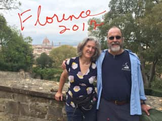 Me and John in Florence, Italy ,