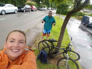 Jay and Dom - on a bike ride