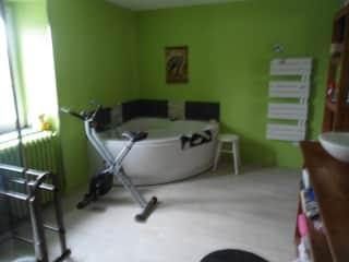 Half of bathroom