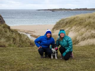 Derrick and I with Siogh, one of two Border Collies we house sat for in Donegal, Ireland
