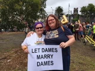 Sarah and I at Pride :-D