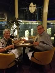 Michael and Uschi celebrating an anniversary in Singapore