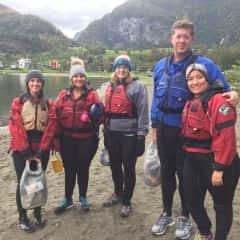 Bob and Fara - Kayaking in Norway
