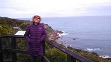 Wendy whale watching at Cape Naturaliste, WA