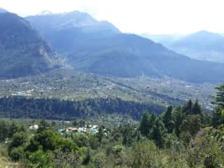 Looking down on Nagar valley, where I live.