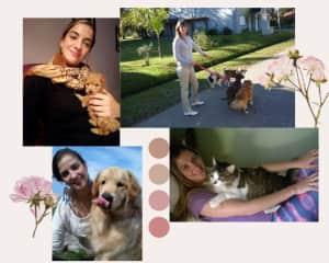 My babies, Ketut (puppy), My grandma's dogs, Shanti (labrador retriever) and Wilfredo the big cat (he weighs 10kg)