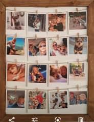 My photo board in memory of JD