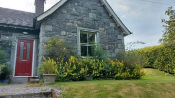 Living room window at the front of the cottage.