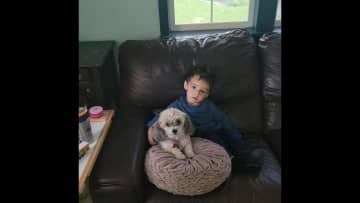 Jen (9yrs old) & Leo watchin lil TV ❤