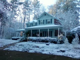 Our home after an unusual snow