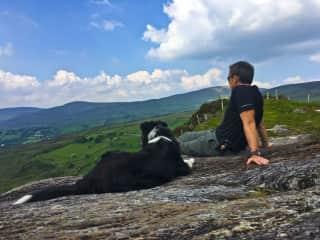 Hiking around Ireland.