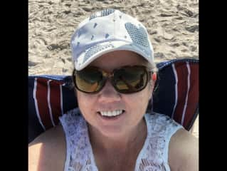 Me relaxing on beach in Florida.