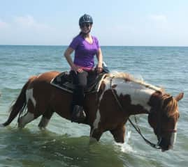 Helen going for a ride in Lake Erie