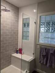 Master bathroom - renovated in 2018 (all four bathrooms and the kitchen were renovated in 2018).