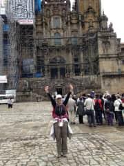 Santiago de Compostela, Spain. I had just completed the Camino de Santiago.