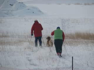 Bill, Heidi, & Jane Xcountry skiing