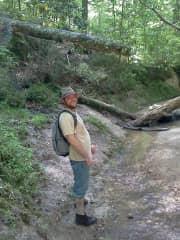 Ben hiking