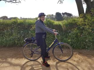 Riding a bike in the Island of Sark