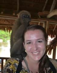 With monkeys in Peru.