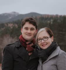 Georgina and Tony looking all very serious (and freezing) for their author photo near Balmoral Castle in Scotland.